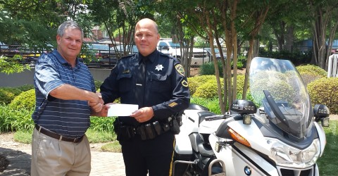 Spinners Present Check to Greenville County Sheriff Department