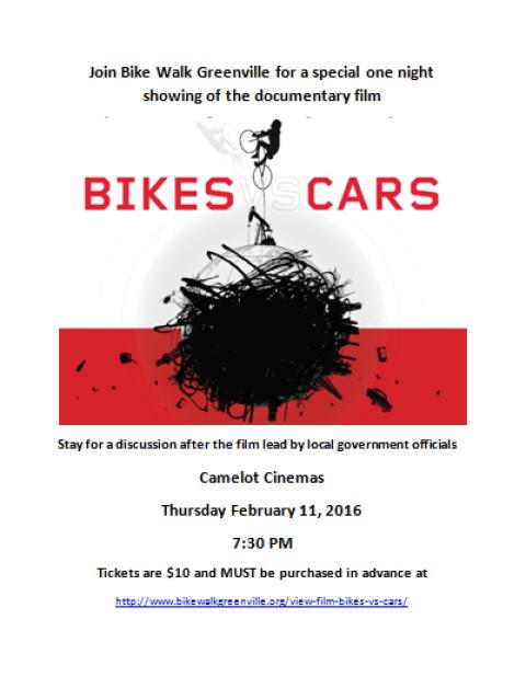 Bikes vs. Cars Movie Event