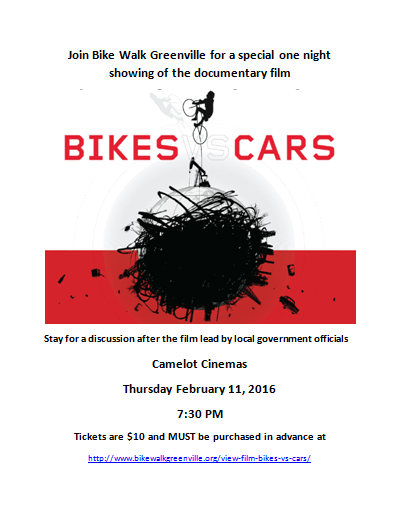 Bikes vs. Cars Movie Event