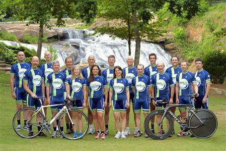 Pictured above are members of the 2014 Race Team