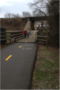 Swamp rabbit trail bike lanes